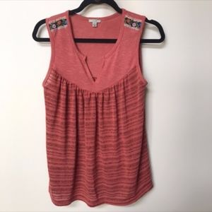 Urban Outfitters Ecote Red Knit BOHO Festival Tank